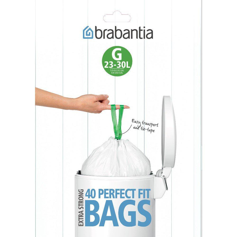 Brabantia 23 30l Bin Liners Dispenser Pack 40 Bags Size