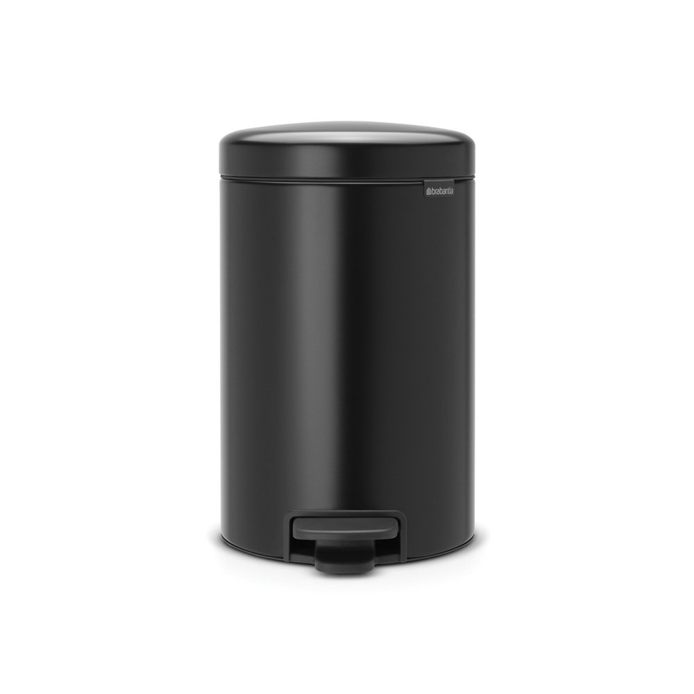Brabantia Newicon 12 Litre Pedal Bin In Matt Black At