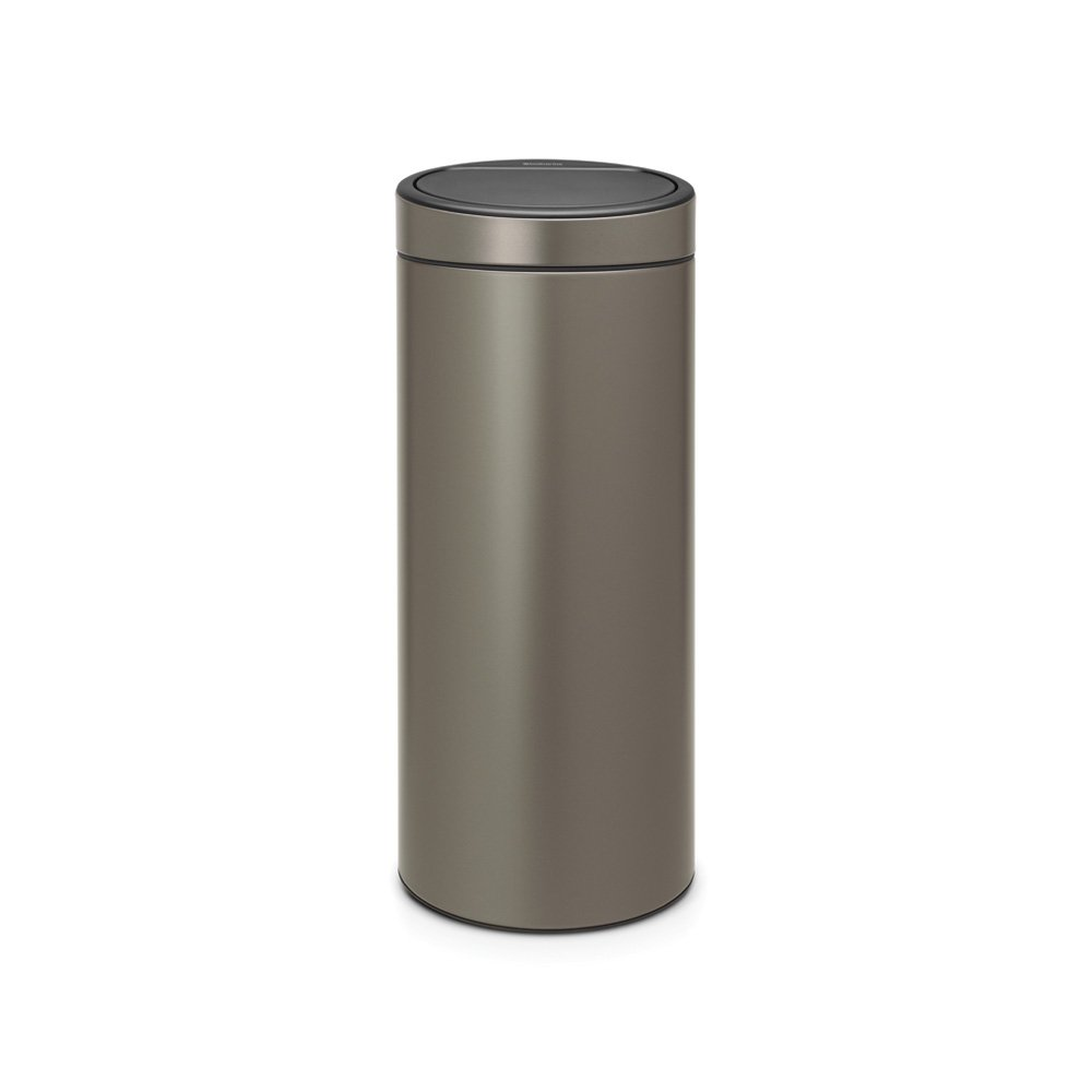 brabantia touch bin 30 litre platinum at barnitts online. Black Bedroom Furniture Sets. Home Design Ideas