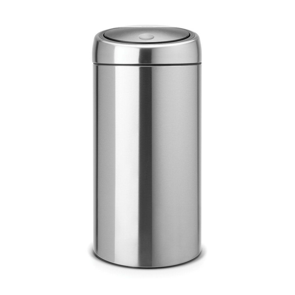 brabantia touch bin recycle 2x20 litre in fingerprint. Black Bedroom Furniture Sets. Home Design Ideas