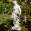 Solstice Sculptures Olivia Urn Girl 79cm White Stone Effect