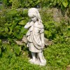 Solstice Sculptures Lucy 61cm Antique Stone Effect