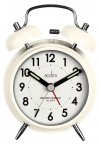 Acctim Evie Double Bell Alarm Clock White