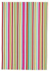 KitchenCraft Tea Towels Multi Stripe Pack of 2