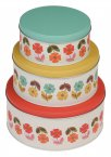 Rex Set of 3 Mid Century Poppy Cake Tins