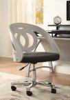 Jual Santiago Curved Grey Ash & Black Leather Office Chair