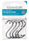 KitchenCraft Chrome Plated 'S' Hooks 80mm, Pack of 5