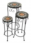 Summer Terrace Nova Plantstand Set Of 3 Tall