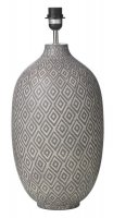 Dar Ceyda Table Lamp Ceramic & Grey (Base Only)