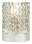 Dar Braydon Touch Table Lamp Polished Chrome Glass