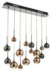dar aurelia 15lt bar pendant black chrome & multi colour