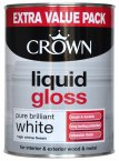 Crown Liquid Gloss Brilliant White 1.25 Litre