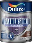 Dulux Weathershield Satin Hazelnut Truffle 750ml