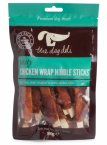 The Dog Deli Tasty Chicken Wrap Nibble Sticks 100g