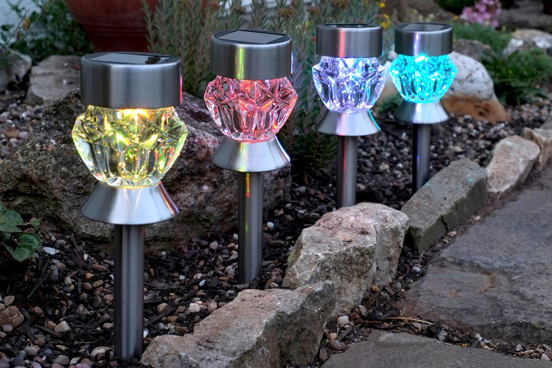 Smart Solar Crystal Colour Changing Solar Stake Light At