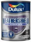 Dulux Weathershield Satin Black 750ml