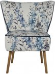 XYZ Malo Occasional Chair in Hana Indigo