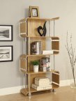 Jual Bali Collection Curve Oak & Chrome Curved Wood Bookshelf