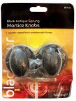 Blackspur Black Antique Sprung Mortice Knobs