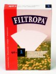 Filtropa Coffee Filter Papers Size 1 Bleached (Box of 40)