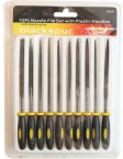 Blackspur 10 Piece Needle File Set with Plastic Handles