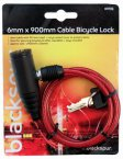 Blackspur 6mm x 900mm Cable Bicycle Lock