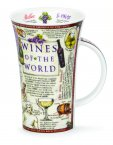Dunoon Glencoe Shape Fine Bone China Mug - Wines of the World