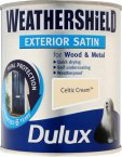 Dulux Weathershield Satin Celtic Cream 750ml