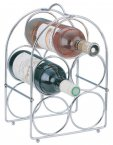 Apollo Housewares Chrome Wine Rack 5 Bottle