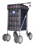 Marketeer Deluxe Swivel 6 Wheel Shopping Trolley