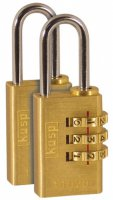 Kasp 110 Series Brass Combination Padlock 20mm Twin pack
