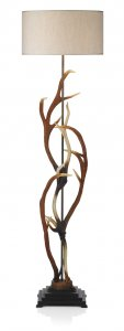 David Hunt Antler Floor Lamp with Shade