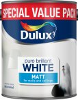 Dulux Pure Brilliant White 3 Litre Matt