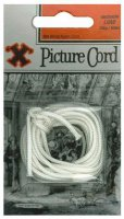 X White Nylon Picture Cord 3m
