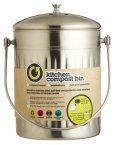 KitchenCraft Stainless Steel 5 Litre Compost Bin