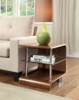 Jual BS200 Collection Walnut & Clear Glass Lamp Table