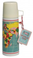 Rex World Map Flask 350ml
