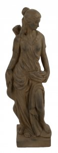 Solstice Sculptures Heidi Hunter Girl 85cm Rust Effect