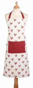 KitchenCraft French Hen Apron, Red