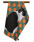 Leslie Gerry Tea Towel Black & White Cat