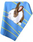 Leslie Gerry Tea Towel Rabbit