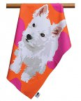 Leslie Gerry Tea Towel Westie