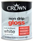 Crown Non Drip Gloss Pure Brilliant White 750ml