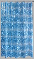 Aqualona PEVA Shower Curtain 180x180cm Blue Fizz