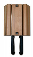 Grunwerg Magnetic 4 Slot Wall Mounted Wood Knife Block