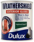 Dulux Weathershield Exterior Gloss Highland Green 750ml