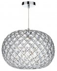Dar Juanita Non Electric Polished Chrome Pendant Large
