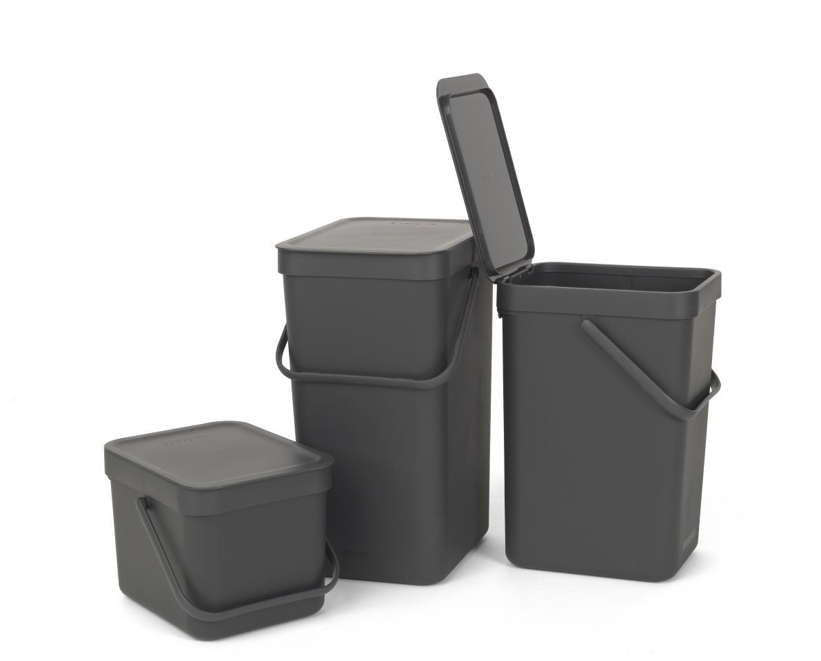 Brabantia Sort Amp Go 6 Litre Waste Bin In Grey At Barnitts