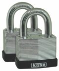 Kasp Laminated Steel Padlock 50mm Twin Pack