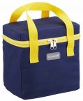 KitchenCraft Navy & Yellow Lunch / Snack Cool Bag, 5 Litres